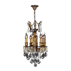 "Worldwide Lighting - Versailles 8 Light Antique Bronze Finish Crystal Chandelier 14"" - This stunning 8-light Chandelier only uses the best quality material and workmanship ensuring a beautiful heirloom quality piece. Featuring a cast aluminum base in Antique Bronze finish and all over clear crystal embellishments made of finely cut premium grade 30% full lead crystal, this chandelier will give any room sparkle and glamour. Worldwide Lighting Corporation is a privately owned manufacturer of high quality crystal chandeliers, pendants, surface mounts, sconces and custom decorative lighting products for the residential, hospitality and commercial building markets. Our high quality crystals meet all standards of perfection, possessing lead oxide of 30% that is above industry standards and can be seen in prestigious homes, hotels, restaurants, casinos, and churches across the country. Our mission is to enhance your lighting needs with exceptional quality fixtures at a reasonable price."
