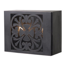 """World Imports - World Imports WI9028 1 Light Wall Sconce from the Adelaide Collection - 1 Light Wall Sconce from the Adelaide CollectionMasterfully styled after intricately hand-wrought iron gates and """"peek-throughs"""" of grand entrance doors across Europe, Sevilla brings that ironwork to the exterior of your home."""