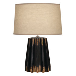 Robert Abbey - Rico Espinet Adirondack Table Lamp - Distressed never looked so fashionable. Bet you don't have another lamp that looks like this! And it's topped off with a khaki fabric shade. It's like having the latest fashion from a European runway … in a lamp!