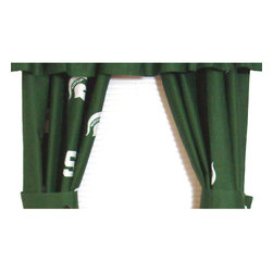 College Covers - NCAA Michigan State Spartans Collegiate Long Window Drapes - Features: