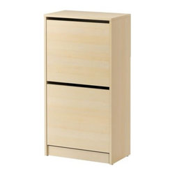 Sarah Fager - BISSA Shoe cabinet with 2 compartments - Shoe cabinet with 2 compartments, birch