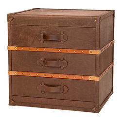 Steamer Trunk End Table - Our reproduction antique steamer trunks call to mind the luggage once used by rail or ocean voyagers.