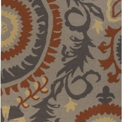 "Surya Rugs - Frontier Cobble Stone Rug Size: Runner 2'6"" x 8' - 100% Wool. Rugs Size: 2'6"" x 8'. Note: Image may vary from actual size mentioned."