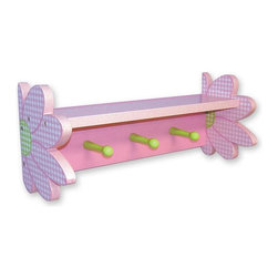Trend Lab - Darling Pink Daisy Shelf with Pegs - 100523 - Shop for Wall Hooks Racks and Shelves from Hayneedle.com! About Trend LabBegun in 2001 in Minnesota Trend Lab is a privately held company proudly owned by women. Rapid growth in the past five years has put Trend Lab products on the shelves of major retailers and the company continues to develop thoroughly tested high-quality baby and children's bedding decor and other items. With mature professionals at the helm of this business Trend Lab continues to inspire and provide its customers with stylish products for little ones. From bedding to cribs and everything in between Trend Lab is the right choice for your children.