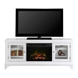 Dimplex - Dimplex Winterstein Media Console with Electric Fireplace Multicolor - GDS25L-14 - Shop for Fire Places Wood Stoves and Hardware from Hayneedle.com! Make movie nights and TV marathons comfier and cozier with the Dimplex Winterstein Media Console with Electric Fireplace a spacious console featuring cutting-edge flame effect technology. With Dimplex's Multi-Fire XD system this console's electric fireplace gives you the choice of recreating a wood-burning or gas flame or enjoying a hypnotic or pulsing light show. Convenient and easy to use this fireplace is equipped with both gesture recognition technology and a super-efficient Comfort$aver ceramic heating system that uses 11% less energy than the leading quarts infrared heater. Though suitable for use with or without a television this console includes back openings behind its adjustable shelves for easy cord management.About DimplexDimplex North America Limited is the world leader in electric heating offering a wide range of residential commercial and industrial products. The company's commitment to innovation has fostered outstanding product development and design excellence. Recent innovations include the patented electric flame technology - the company made history in the fireplace industry when it developed and produced the first electric fireplace with a truly realistic wood burning flame effect in 1995. The company has since been granted 87 patents covering various areas of electric flame technology and 37 more are pending. Dimplex is a green choice because its products do not produce carbon monoxide or emissions.