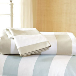 Classic Stripe 400-Thread-Count Duvet Cover and Sham, Sandalwood - Swapping out your duvet cover or bedspread will give your room an instant lift. Try different patterns and colorways, like these striped duvets from Pottery Barn.