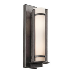 BUILDER - BUILDER 49122AVIFL Camden Lodge/Country/Rustic/Garden Fluorescent Outdoor Wall S - Meet Energy Star and Title 24 requirements. Rated for wet locations. Photocell Included.