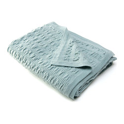 Sefte - Sefte Kai Woven Mist Throw Blanket - Named for a Peruvian word for��_ Aowater,' the gathered weave structure in the mist green Kai throw blanket represents the ripples and waves of the sea meeting the shore. Embodying a contemporary minimalism, the Sefte design is handmade by artisans with a focus on luxury and sustainability. Available in standard and large sizes; 100% baby alpaca (the finest shearing from an adult), renowned for its ultra soft hand; Lightweight structure is warmer than wool; Silky and soft to the touch; Sefte follows Fairtrade practices; Environmentally-friendly, oeko-tex standard dyes; Dry clean only
