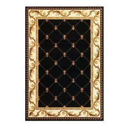 """Kas Rugs - Area Rug: Elegant Traditions Black 2' 3"""" x 3' 3"""" - Shop for Flooring at The Home Depot. Our Elegant Traditions series is hand carved with specific attention to detail. This line features classic patterns, a look usually found only in traditional hand-knotted collections. This timeless classis has been designed with today's colors in mind, bringing a beautiful blend of yesterday and today to your home."""