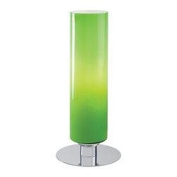 George Kovacs - P663 Portables 1-lt Accent Lamp - 1 Light Table Lamp w/ Glossy Green Glass