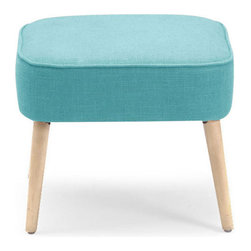 Contemporary Wood And Foam Footstool - Bright color is always a welcome guest. The adorable Varvel Stool pops with color for any space. This versatile stool could serve as an extra seat or as a footstool to put up your feet.