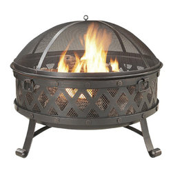 Garden Treasures Black/High Temperature Paint Steel Wood-Burning Fire Pit - No evening outdoors is complete without a bonfire. I like this fire pit because of the depth, which allows for a respectably sized fire.