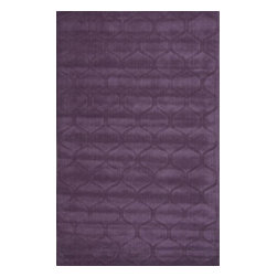 Jaipur Rugs - Jaipur Rugs Handmade Looped & Cut Wool Purple/Solid Area Rug, 8 x 11ft - This collections offers simple modern geometrics in all the fashion colors. Hand loomed in 100% wool each rug make a bold solid color statement to compliment contemporary interiors. The pattern and texture is created through a high/low loop and pile construction.