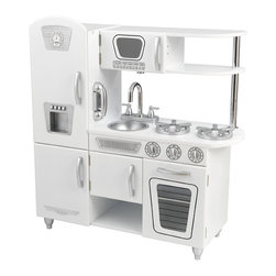 KidKraft - White Vintage Kitchen by Kidkraft - Our white Vintage Kitchen from KidKraft helps little chefs use their imagination. With its close attention to detail and interactive features, this adorable wooden kitchen makes a great gift for any of the young chefs in your life.