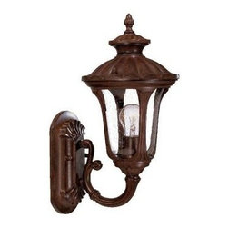 Acclaim Lighting - Outdoor Lighting. Augusta Collection Wall-Mount 1-Light Outdoor Burled Walnut Li - Shop for Lighting & Fans at The Home Depot. The Augusta collection 1-light wall-mounted lantern is made of durable cast aluminum. This material is a good choice for exterior lighting since it does not rust and resists corrosion. Complementing its elegant design, this lantern features a clear seeded glass globe.