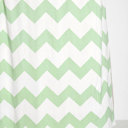 Zigzag Shower Curtain, Mint - Don't forget about the bathroom when adding a dash of mint to your home. This shower curtain works in both modern and traditional spaces, and the shade is perfect.