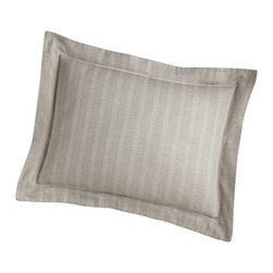 Peacock Alley - Corsica Sham,, Linen, Standard - Isn't it time you slept in style? Consider this simply elegant pillow sham — a subtle herringbone design woven into sumptuous, 100 percent Egyptian cotton.
