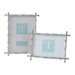 Zhush - Silver Bamboo Frame - A classic home decor item, these stylish bamboo frames make excellent gifts and will complement any decor style. 4x6 photo
