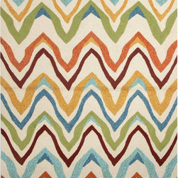 JRCPL - Solid Multi Color Indoor/ Outdoor Rug (5' x 7'6) - Navigate towards a fresh new approach with this indoor-outdoor rug. This bold rug takes its styling cues from the ruggedly chic aesthetic of a casual seaside lifestyle.