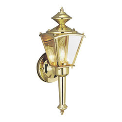 "Designers Fountain - Designers Fountain 1163-PB 1 Light 4.75"" Wall Lantern from the Beveled Glass Lan - Features:"