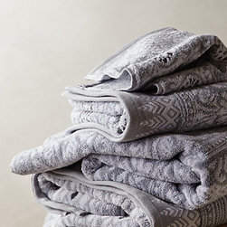 Marigold Towel, Gray - New towels are one of my favorite ways to refresh the bathroom. These gray stunners look soft and would fit the bill perfectly.