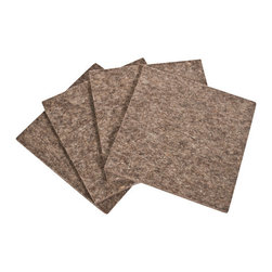 The Felt Store - 4 x 4 x 0.20 Inch Square Felt Coasters - Gray, 4 Pack - The Square Felt Coasters are made of a natural wool blend, measuring 4 inches X 4 inches X 1/5 inches (4mm) thick. The wool coasters will protect your beautiful furniture from moisture as well as add a touch of natural style to any room! Each package contains four square coasters.