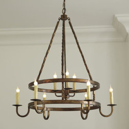 Ella 9 Light Chandelier - This chandelier is a great size for the price. A perfect fit for a dining room or large, vaulted ceiling family room.