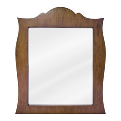 Lyn Design - French Regency Mirror - Beveled glass. Golden maple finish. 28 in. W x 33 in. H