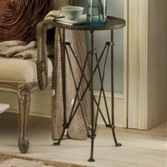 eclectic side tables and accent tables by Through the Country Door