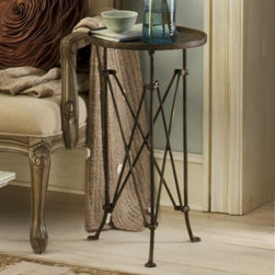 Side Table, Bordeaux - You can't beat the price of this classic campaign-style side table. Even if you don't like the color, you can paint it gold or white or any color you fancy. I have seen many more expensive versions of this table in fine New Orleans homes.