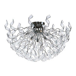 ET2 Lighting - ET2 Lighting E23190-24PC European Flush Mount Ceiling Light in Polished Chrome - ET2 Lighting E23190-24PC European Flush Mount Ceiling Light In Polished Chrome