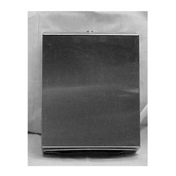 Meek Manufacturing Company - Stainless Steel Paper Towel Dispenser - This dispenser is constructed of 22 gauge stainless steel, with a tumbler lock, heavy duty stainless steel piano hinge and a No. 4 satInch Finish. It will dispense 400 c fold or 525 multi-fold towels. Overall size is 11-Inch x 14 1/2-Inch x 4 .