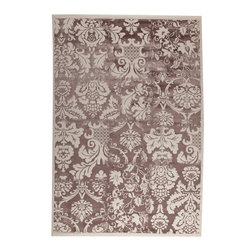 """MAT Orange Baroque Brown Rug - 5'2""""x7'6"""" - The rugs in this collection are all inspired by urban lanandscapes, making way for a statement where texture, shape, and line are the form. The rug's texture and the marriage of colors speak to the contemporary room. """"It is the art piece on the floor.  Because of the artistic quality ofThe rugs they are easily used in modern as well as traditional interiors. Pile Height:0. 5 Inches"""