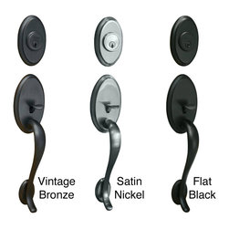 Sure-loc - Sure-Loc Front Entry Handleset - Update the look of your home with this elegant,front-entry handlset. This door handleset fits most standard doors and is easy to install.