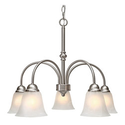Golden Lighting - Grace 5 Light Nook Chandelier, Pewter - Looking for a little more than ambient light? This sophisticated chandelier has five bells turned downward for concentrated illumination, and cleaned, curved lines that make it a standout piece.