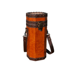 Sarreid - Sarreid Leather Wine Caddy -