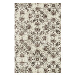 """Loloi Rugs - Loloi Rugs Avanti Collection - Brown / Grey, 3'-6"""" x 5'-6"""" - Power loomed in China, Avanti presents a collection of vintage-inspired rugs with an incredibly soft microfiber surface. The intentionally distressed patterns create a weathered look that simultaneously implies heritage and modernity. Made of 100% polyester, each rug will retain its sharp and vibrant colors for years to come."""
