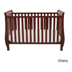 AFG Baby Furniture - Mikaila Kailyn Convertible Crib - The Kailyn crib's unique style combines different elements for safety and ease of use. Made of pine solid hardwood with a non-toxic finish,the Kailyn crib has stationary sides for added safety in addition to wide,thick slats for extra sturdiness.