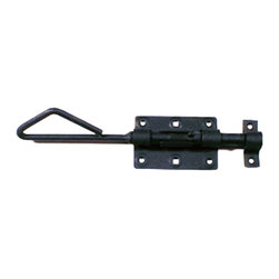 Renovators Supply - Door Bolts Black Wrought Iron Slide Door Bolt - These outstanding slide bolts crafted of hand-forged wrought iron are popular on cabinets, doors, armoires and gates. A fabulous detail for a modern sleek look or for that Old Colonial charm. Our exclusive RSF coating protects this product for years to come. Mounting hardware included.