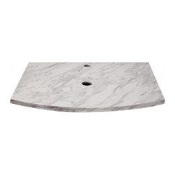 DECOLAV - Decolav Lola Granite Countertop, Bianco Marble (1677-MBI) - Decolav 1677-MBI Lola Granite Countertop, Bianco Marble