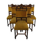 EuroLux Home - Set 6 Consigned Antique French Dining Chairs Henry - Product Details