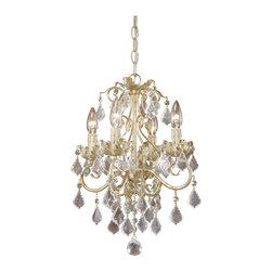 Vaxcel - Newcastle Gilded White Gold 4 Light Chandelier - Vaxcel NC-CHU004GW Newcastle Gilded White Gold 4 Light Chandelier