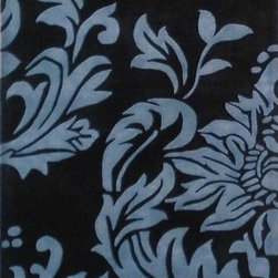 Alliyah Rugs - Alliyah Rugs Z n Z Rug Gallery 3067 (Blue, Black) 8' x 10' Rug - This Hand Crafted rug would make a great addition to any room in the house. The plush feel and durability of this rug will make it a must for your home. Free Shipping - Quick Delivery - Satisfaction Guaranteed