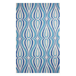 nuLOOM - Contemporary 5' x 8' Light Blue Hand Hooked Area Rug UZB53 - Made from the finest materials in the world and with the uttermost care, our rugs are a great addition to your home.
