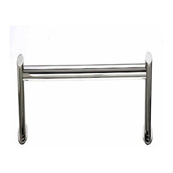 Top Knobs - Top Knobs: Hopewell Bath 18 Inch Single Towel Rod - Polished Nickel - Top Knobs: Hopewell Bath 18 Inch Single Towel Rod - Polished Nickel