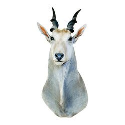 Small Horned White Antelope Mount Decal
