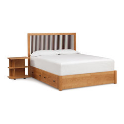Copeland Furniture - Copeland Furniture Dominion Canaan Storage King Bed with Spindle Headboard 1-CAN - Clean honest designs and thousands of options give Dominion unparalleled flexibility. With five distinct headboard designs, finishes, leather and hardware options Dominion melds seamlessly with almost any decor, expressing Copeland's unique design ethos - high quality domestic solid wood furniture, mixing traditional woodworking and modern technology for a soft, highly livable contemporary look.