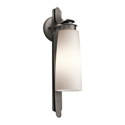 Kichler 1-Light Outdoor Fixture - Anvil Iron Exterior - One Light Outdoor Fixture