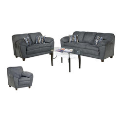 Chelsea Home Furniture - Chelsea Home Julia 3-Piece Living Room Set in Bulldozer Thunder - Julia 3 Piece Living Room Set in Bulldozer Thunder belongs to Triad collection by Chelsea Home Furniture.