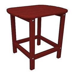 """Polywood - """"Polywood Outdoor Furniture 15 """""""" Side Table, Sunset Red-Recycled Pla..."""" - """"Polywood Outdoor Furniture 15 """""""" Side Table, Sunset Red-Recycled Plastic Materials South Beach 18"""""""" side table is part of the South Beach collection from Poly-Wattood. It's been made from amazingly durable recycled plastic polymer crafted to look and feel like real wood.  Mix and match colors and pieces to create your own beautiful collection. Product Measures: 19 by 15 by 18 IN"""""""